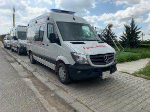 سيارة إسعاف متنقلة مرسيدس سيارة إسعاف