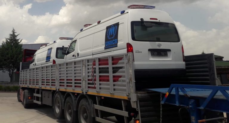 Hiace ambulance UNHCR